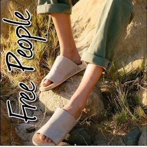 Free People Mainland Wood Sole Slide Sandal